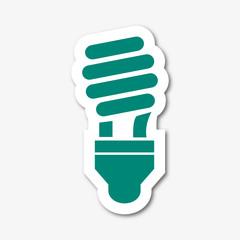 Logo ampoule basse consommation.