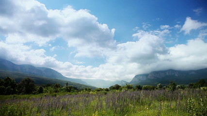 Crimean mountain landscape.