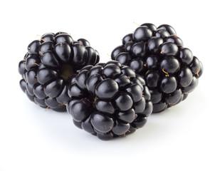 Three blackberries