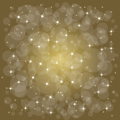 Defocused abstract christmas background with stars. Vector