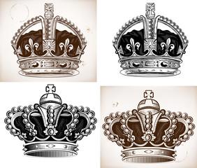 Crowns set. Vector file