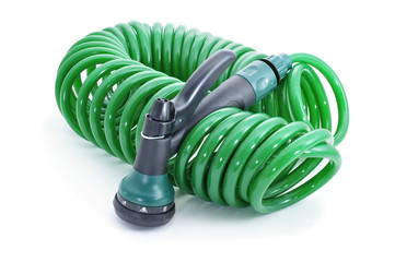 garden hose with sprayer pistol