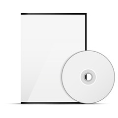 CD cover on white background
