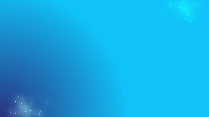Looped blue calm and soft background with slow particles