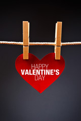 Heart shaped Valentine's Day card with message