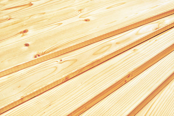 Pine planks stacked