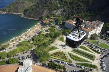 Sugarloaf Pao de Acucar Mountain Cable Car Rio Skyline