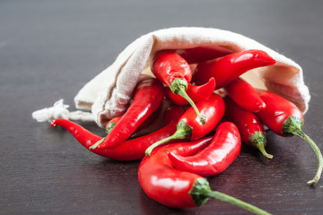 A bag of hot chili