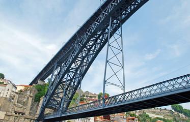 Dom Louis bridge in Porto(Portugal)