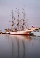 Old frigate in Gdynia. Poland