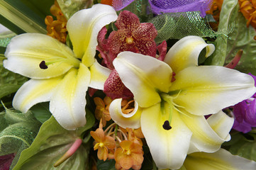 Bouquet of Colourful Tropical Flowers