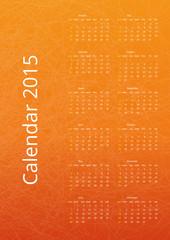 Orange vector calendar 2015