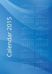 Blue vector calendar 2015