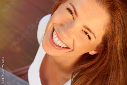 canvas print picture Smiling girl