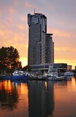 Embankment in Gdynia. Poland