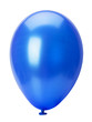 blue balloon isolated on the white background