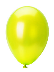 yellow balloon isolated on the white background