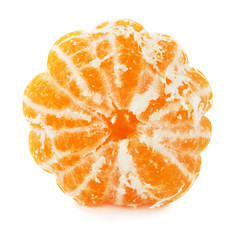 tangerine slice isolated on the white background