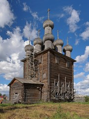 Church of Intercession in the village Rikasovo, Russia