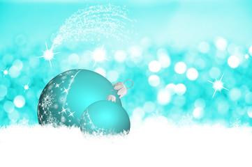 Kugeln in Türkis, Weihnachten in Weiß