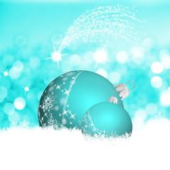 Kugeln in Türkis, Weihnacht in Weiß