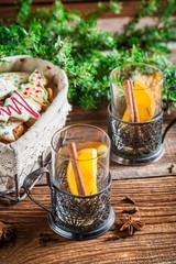 Hot Christmas tea for two
