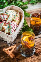 Christmas hot sweet tea