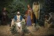 Obrazy na płótnie, fototapety, zdjęcia, fotoobrazy drukowane : Christmas Nativity Scene with Pine Tree