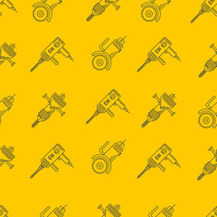 Yellow vector background for construction tools