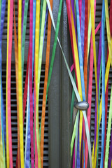 Colorful Curtain Carnival Ribbons Brazilian Door