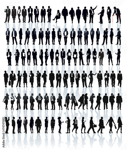 Businesspeople silhouettes - 74747882