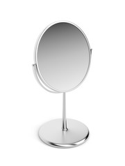 Silver magnifying mirror