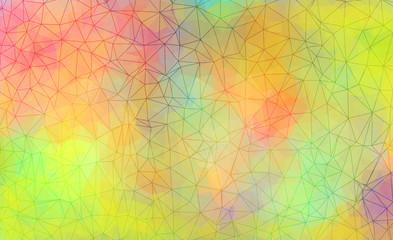 Vibrant polygonal background