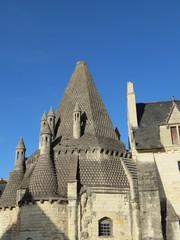 Maine-et-Loire - Abbaye de Fontevraud Toit des cuisines romanes