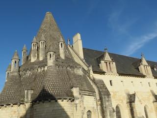 Maine-et-Loire - Abbaye de Fontevraud - Cuisines et réfectoire