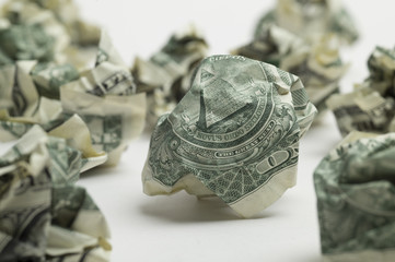 Dollar-bill like wastepaper