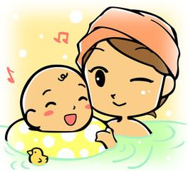 赤ちゃんとお風呂!