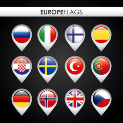 europe flags design