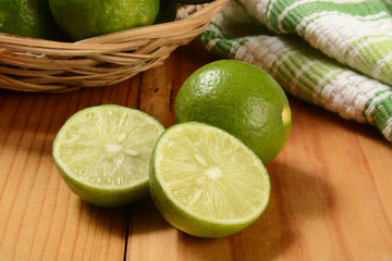 Fresh sliced key limes