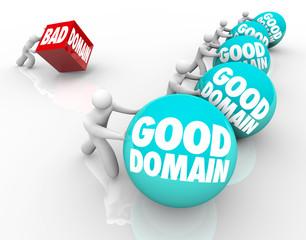Good Vs Bad Domain Names URL Website Internet Business