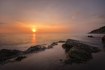 Kaow-lam-ya National Park in Sunset Rayong
