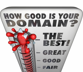 How Good Is Your Domain Thermometer Rating Website Name