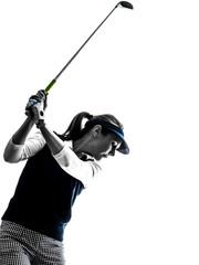 woman golfer golfing silhouette