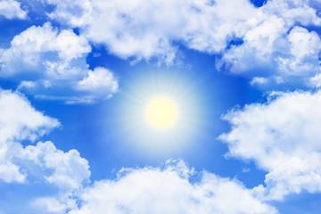 sunlight around clouds