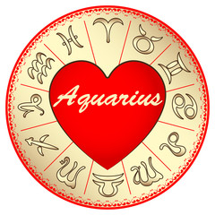 zodiac sign Aquarius, for lovers on Valentine's day