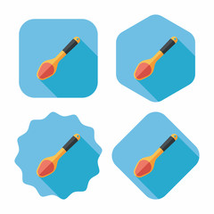 kitchenware spoon flat icon with long shadow,eps10