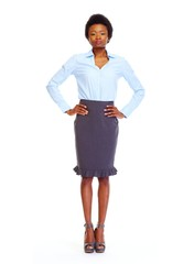 Young african-american business woman