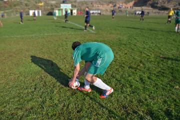 soccer free kick - player ball