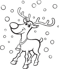 Coloring Book Rudolph the red-nosed reindeer