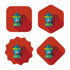 Christmas lantern flat icon with long shadow,eps10